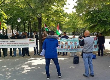 Rassemblement à Paris pour la libération des prisonniers politiques sahraouis détenus au Maroc