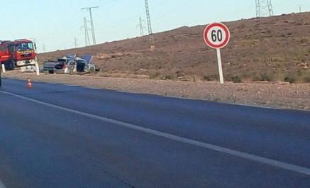 Cinq morts et 2 blessés dans un accident spectaculaire à Laghouat