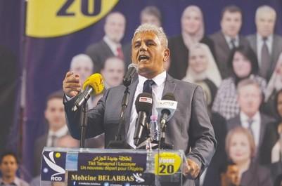 Le Président du RCD à Tlemcen: Belabbas critique les promesses «fantaisistes» de certains partis