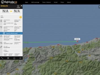 Un avion « Khaled » survole la côte algérienne puis disparaît