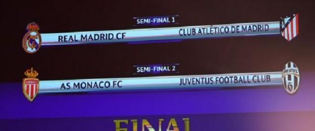 Ligue des Champions: un derby Real-Atletico et la Juve face à Monaco