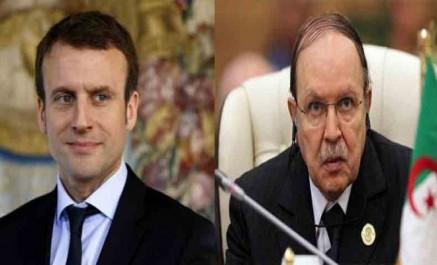 Bouteflika s'entretient avec macron au téléphone