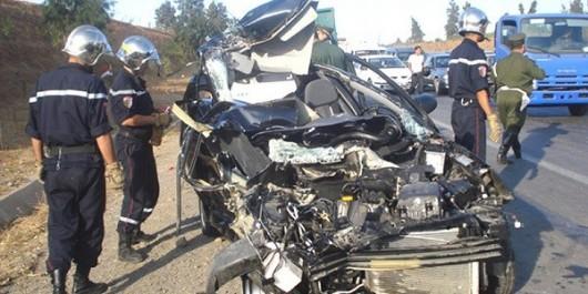 Tragique accident à El-Aricha (Tlemcen) : 4 morts et 2 blessés dans un accident de la route
