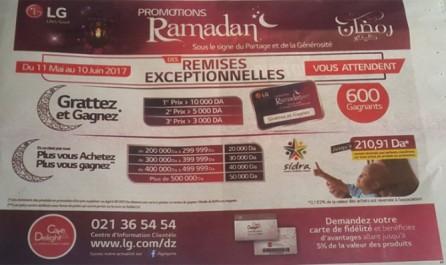 LG Algérie annonce des remises exceptionnelles: Profitez, «Plus vous achetez Plus vous gagnez» !