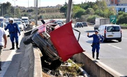 17 morts et 332 blessés dans 257 accidents de la route en une semaine