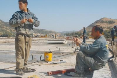 Médéa:  Grève des travailleurs du chantier de la 4e rocade