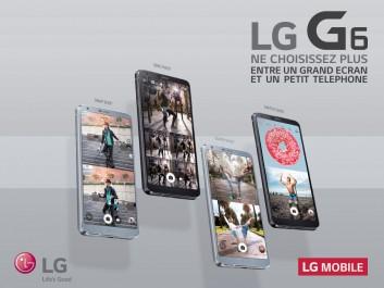LG dévoile son nouveau smartphone LG G6 avec grand écran fullvision conçu pour tenir dans une main.