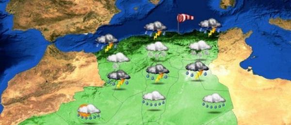 Des orages sur les Hauts-plateaux de l'ouest et du centre à partir de lundi soir