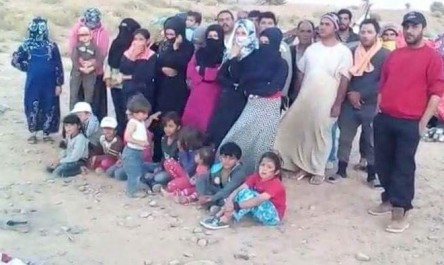 Vidéo- des réfugiés syriens violemment repoussés par la garde-frontière marocaine