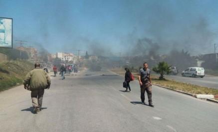 Action de protestation à Tizi Ouzou:  Des citoyens ferment la RN 12