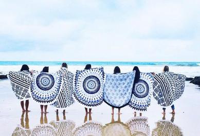 Tendance: Serviette de plage ronde