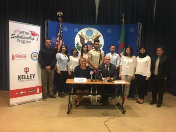 Les lauréats algériens du MENA Scholarship Program 2017 en route vers les USA