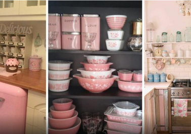 Les cuisines roses au look Vintage!