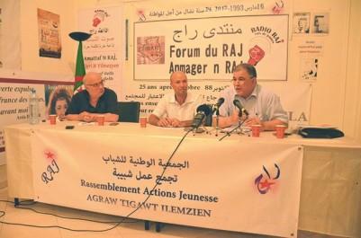 """Noureddine Bouderba et Nacer Djabi débattent  du projet de code du travail au  forum du RAJ:  """"Le travailleur va devenir une marchandise"""""""