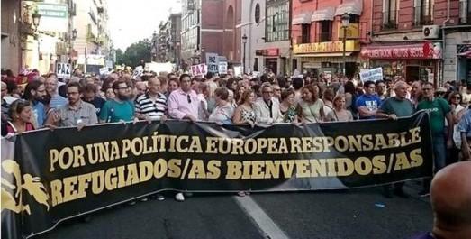 Des milliers de manifestants à Madrid pour l'accueil des réfugiés