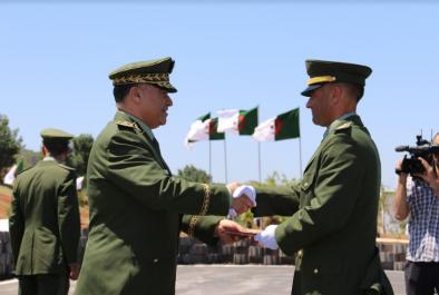 Le Général-Major Menad Nouba préside la cérémonie de sortie de 4 promotions de l'Ecole supérieure de la GN
