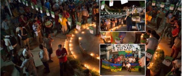 Béjaïa: rassemblement de citoyens en solidarité à la région du Rif au Maroc