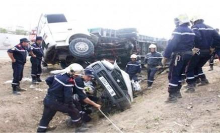 Accidents routiers : 9 morts et 12 blessés en une journée