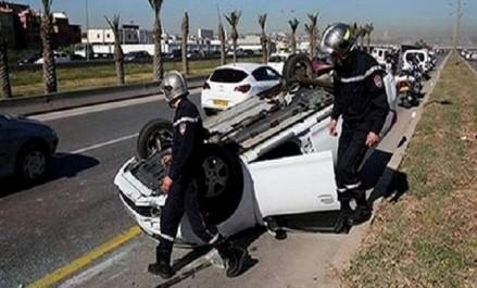 Accidents de la route: 9 morts et 45 blessés en 48 heures