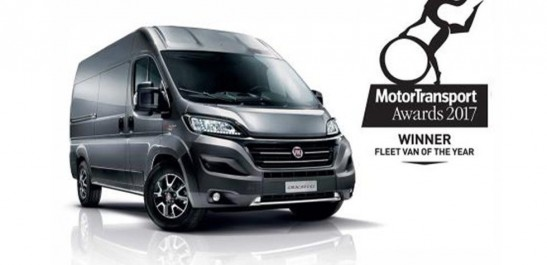 Fiat : Le Fiat Ducato nommé « Fleet Van of the Year 2017 » en Grande-Bretagne