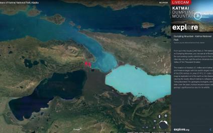 Google Earth Live filme des ours bruns en pleine chasse au saumon !