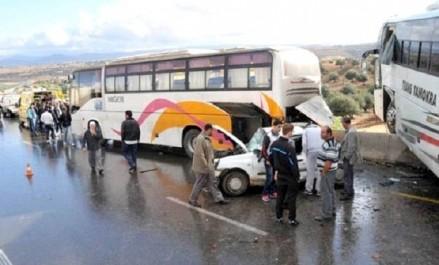 Constantine : deux morts et 25 blessés dans le renversement d'un bus à  Guettar El Aich
