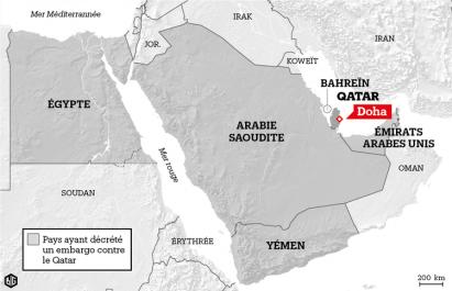 Crise du Qatar: 18 organisations et individus sur une liste noire de l'Arabie saoudite et de ses alliés