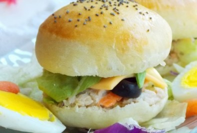 Mini burger moelleux au thon
