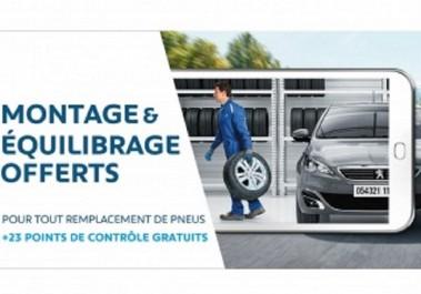 Peugeot Algérie : montage et équilibrage offerts pour tout remplacement de pneus