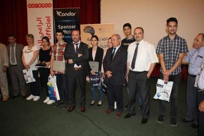Tout en participant aux Open Days de l'USTHB « Condor Electronics » récompense les meilleurs étudiants