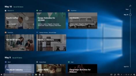Windows 10 : la Timeline sera absente de la Fall Creators Update