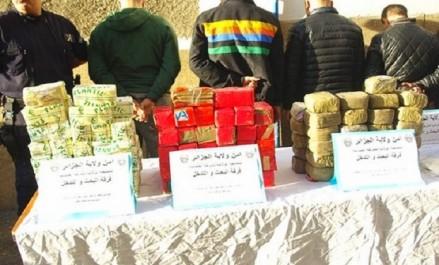 Arrestation de 33 individus impliqués dans le trafic de drogues à Alger
