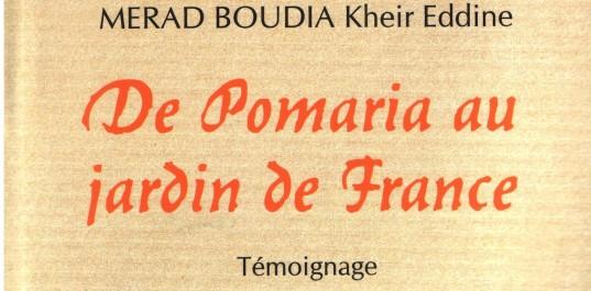 De Pomaria au jardin de France de Merad-Boudia Kheir Eddine: Le devoir de mémoire
