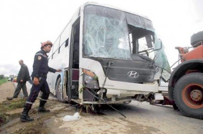 Boumerdès: Un bus dérape ,12 blessés près de Bordj Menail