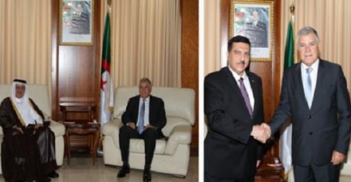 Guitouni s'entretient avec les ambassadeurs d'Irak et du Qatar