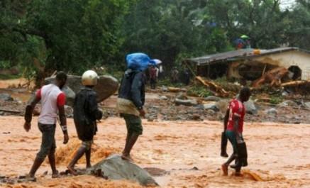 Sierra leone: le bilan des inondations s'alourdit à 400 morts
