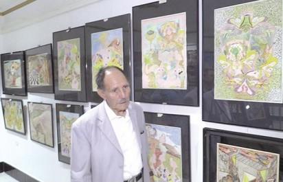 Il a transformé une partie de sa demeure en galerie d'art:  Yessaad Hocine, un artiste peintre pas comme les autres