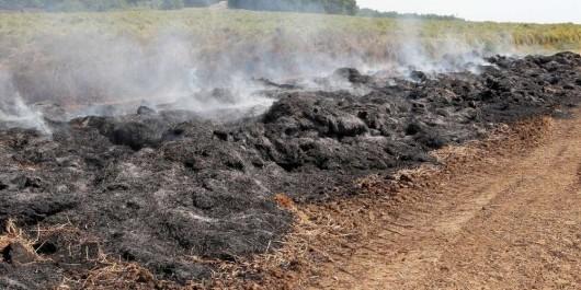 1 400 bottes de foin parties en fumée
