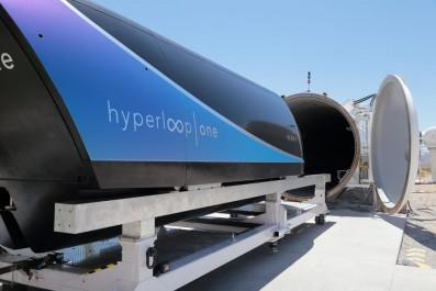 La capsule Hyperloop One en action