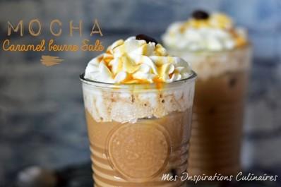 Café mocha recette au caramel beurre salé