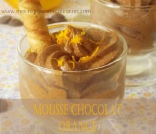 mousse au chocolat parfumée à l'orange