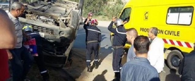 Incendies: Un agent de la Protection civile décédé suite au renversement d'un camion-citerne à Sétif