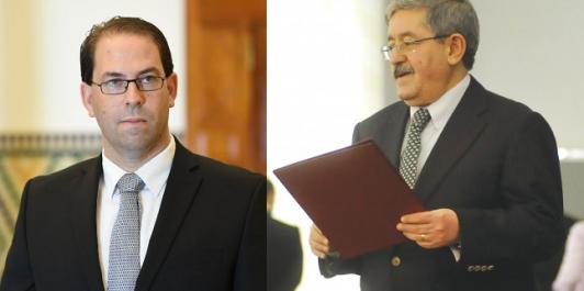 Algérie-Tunisie: Ouyahia reçoit une communication téléphonique de Youcef Chahed