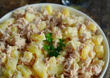 Salade pommes de terre au thon