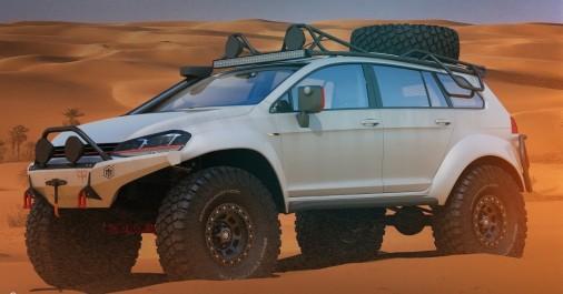 Insolite VW Golf en Safari