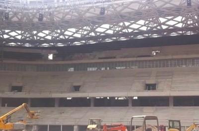 Une tribune s'est affaissée:  Le chantier du stade de Baraki à l'arrêt
