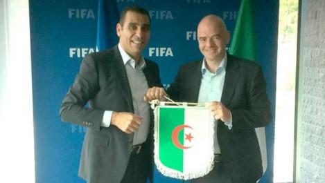 Zetchi reçu  par Infantino au siège de la FIFA