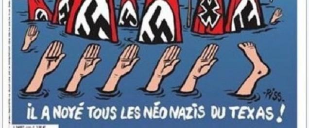 La Une de Charlie Hebdo sur les sinistrés d'Harvey au Texas passe mal aux Etats-Unis