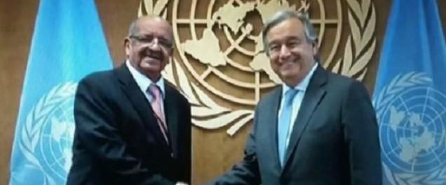 Messahel s'entretien avec Guterres sur la situation au Sahara Occidental, Mali et en Libye
