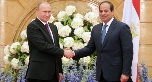 Poutine s'engage à développer les relations russo-égyptiennes